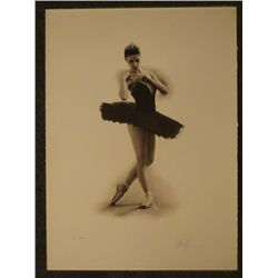 Douglas Hoffman Signed & Dedicated Print Ballet Dancer
