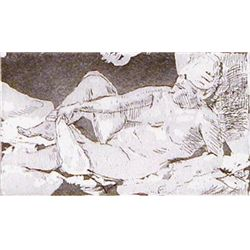 Isabel Bishop NUDE 1961, Pub. 1981 Signed Etching