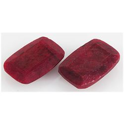 96.35ctw Ruby Cushion Cut Loose Gemstone Lot of 2