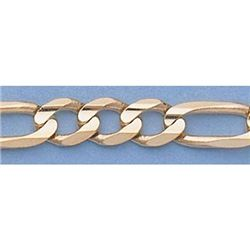 "Pure Gold 16"" 14k Gold-Yellow 5.1mm Figaro Chain 17.1g"