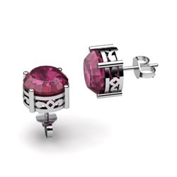 Ruby 3.20ctw Earring 14kt White Gold