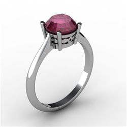 Ruby 1.60 ctw Ring 14kt White Gold