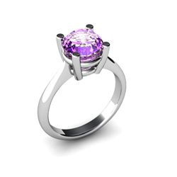 Amethyst 1.80ctw Ring 14kt White Gold