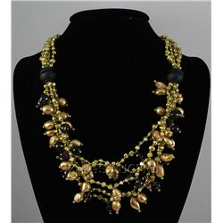 Pearls and Beads 795.00ctw Necklace w/ Metal Lock
