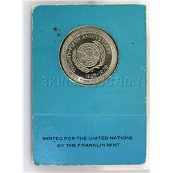 United Nations 25th 1970 Anniversary Uncirculated Silve