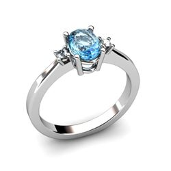 Topaz1.18ctwDiamond Ring14kt White Gold