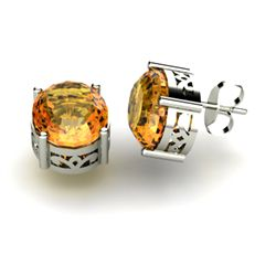 Citrine 4.80ctw Earring 14kt White Gold