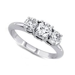 3.00 ctw Round cut Three Stone Diamond Ring, G-H, SI2