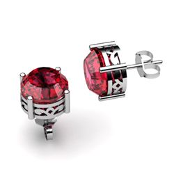 Garnet 2.50ctw Earring 14kt White Gold