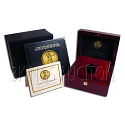 2009 Ultra High Relief Gold American Eagle Box And Book