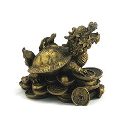 Dragon Headed Turtle, Courage and Longevity Chinese Fig