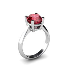 Garnet 2.50ctw Ring 14kt White Gold