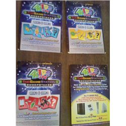 LOT OF 4 GAME STATION 4 KIDS CARDS OK CONDITION