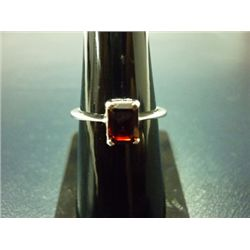 NATURAL 10.50 CTW GARNET RING .925 STERLING SILVER