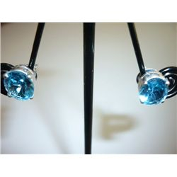 16.50 CTW BLUE TOPAZ EARRING .925 STERLING SILVER