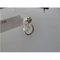 11.00 CTW RAINBOW PENDANT RING .925 STERLING SILVER