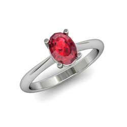 Genuine 2.20 ctw Ruby Ring 14k W/Y Gold