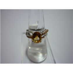 20.75 CTW CITRINE RING .925 STERLING SILVER
