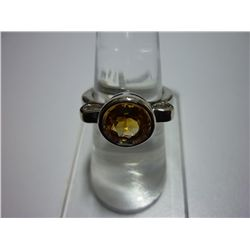 23.75 CTW CITRINE RING .925 STERLING SILVER