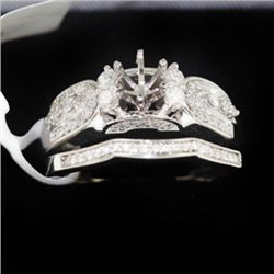 7.39g 14k White Gold Diamond Ring