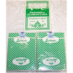 Three Packs of Unopened LANDMARK Casino Playing Cards.