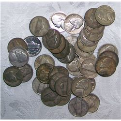40 Silver War Nickels. 2.4Oz. Pure Silver