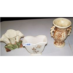 Three Pieces of Vintage McCoy Pottery