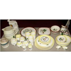 Table Lot of Vintage Brock CA. Dishware as shown