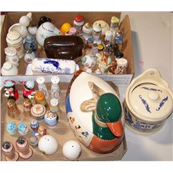Multi-Piece Lot of Salt and Pepper Shakers and Other Collectibles