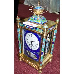 CLOISONNE & METAL MANTLE CLOCK