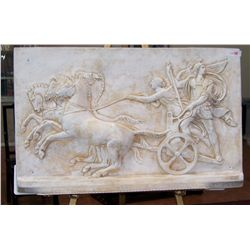 "GRECIAN STYLE BAS RELIEF WALL HANGING 24""T X 38""W"
