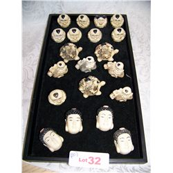 (30) ASSORTED IMITATION IVORY CHINESE CARVINGS, AS SHOWN