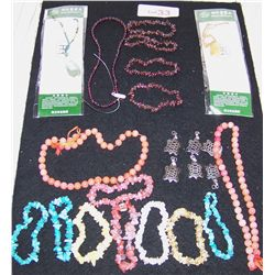 (23) PIECE ASSORTED BEADED JEWELRY