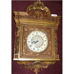 ORNATE WALL MOUNTED SYROCO CLOCK
