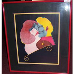 "Richard Lindner (November 11, 1901 –April 16, 1978)  ""THE KISS"""