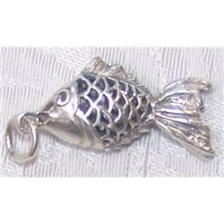 STERLING SILVER FISH CHARM WEIGHS 3.3 GRAMS