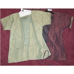 TWO ALEXANDER MOVIE PROP EXTRA'S COSTUME TUNICS