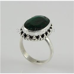 31.62ctw Sterling Silver OvalCut Emerald Beryl Ring