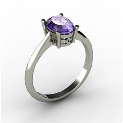 Tanzanite 1.35 ctw Ring 14kt White Gold