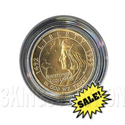 Gold $5 Commemorative 1992 Columbus BU