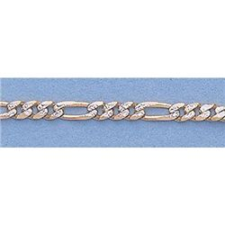 "Pure Gold 16"" 14k Gold-Yellow 2.2mm Rhod Figaro Chain"