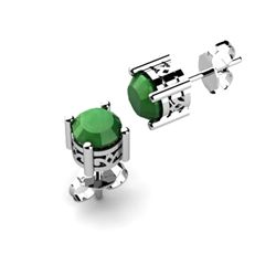 Emerald 1.60ctw Earring 14kt White Gold