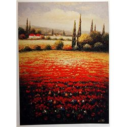 Mobley  RED POPPIES Signed Limited Ed. Lithograph