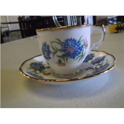 English bone china cup & saucer English bone china cup & saucer set blue floral decoration tracking#