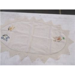 vintage embroidered table linen with butterflies vintage embroidered table linen with butterflies cr