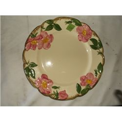 "Vintage Franciscan Desert Rose dinner plate 10 1/2"" round tracking 249"
