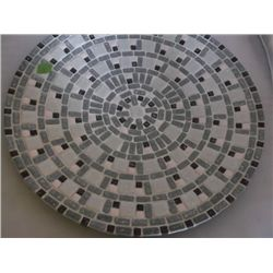 "mosaic tile low round bowl 17"" Round tracking 315"