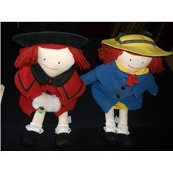 His and hers Eden 1990 dated - cloth dolls apx. 19 inch tall / marked made in china