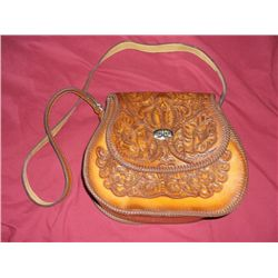 Leather Western Style Purse Hand tooled Leather wetern purse