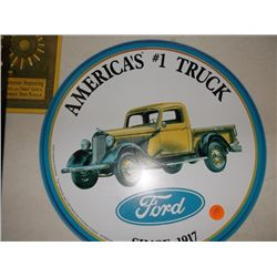"Reproduction Ford sign 12"" round"